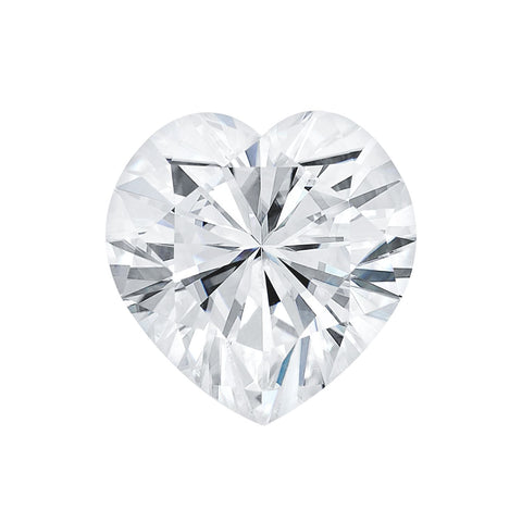 Forever One Moissanite Heart Shape 8mm 2 ct. Loose Charles Colvard Colorless D E F