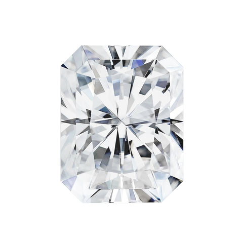 Forever One Moissanite Radiant 9x7mm 2.70 Carat Loose Charles & Colvard Colorless DEF