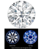 Forever One Moissanite 8mm Hearts & Arrows Round 2 carat Charles & Colvard  D E F