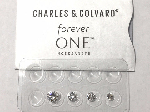 Forever One Near Colorless G H I  Moissanite  Round 1/4 to 2 ct Jewels Charles Colvard