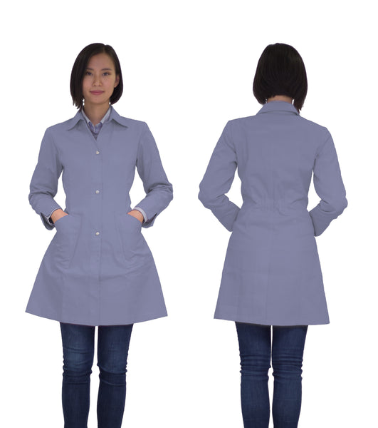 Kyra lab coat - blue-gray