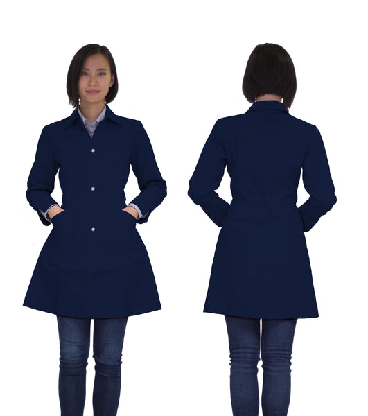 Kyra lab coat - navy