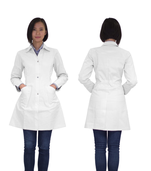 Kyra lab coat - white