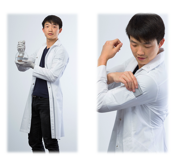 Kyrara lab coat - pearl white