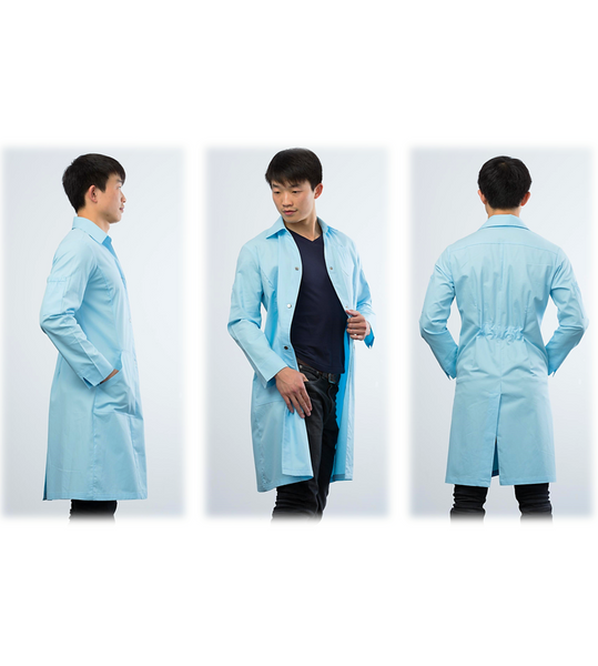 Kyrara lab coat - aqua blue