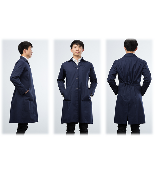 Kyrara lab coat - midnight navy