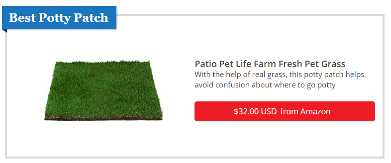 Best Dog Potty Patch: Patio Pet Life Farm Fresh Pet Grass with REAL Grass
