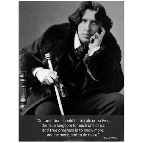 Oscar Wilde (Wood Frame Ready To Hang)
