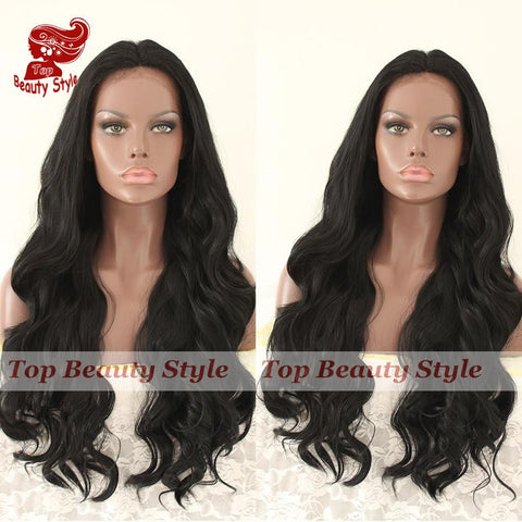 Long Body Wave Synthetic Lace Front Wig - With Baby Hair