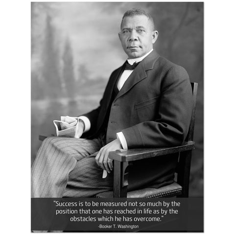 Booker T. Washington (Wood Frame Ready To Hang)