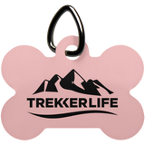 Trekker Life Dog Bone Pet Tag - Blk