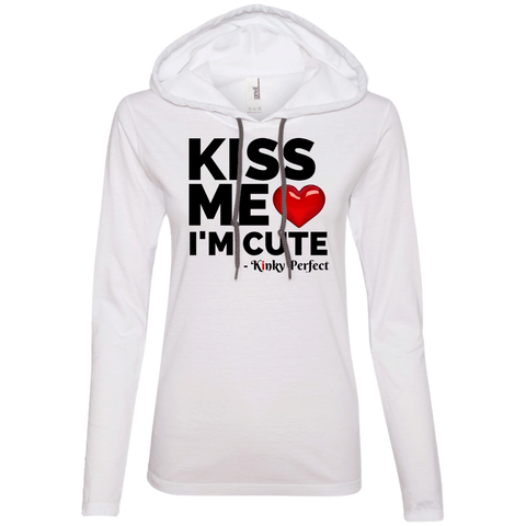 "Kinky Perfect ""Kiss Me I'm Cute"" Ladies Hoodie"