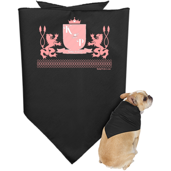 """Kinky Perfect Pink Crest"" Puppy Bandana"