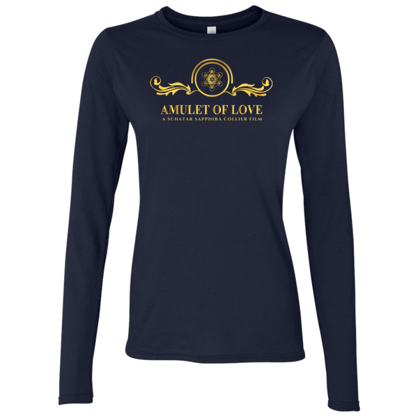 Amulet Of Love Slim Fit Ladies Long Sleeve T-Shirt