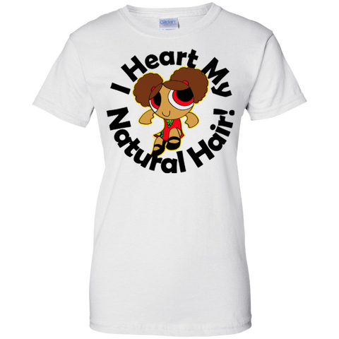 """I Heart My Natural Hair"" Ladies Cotton T-Shirt  1"