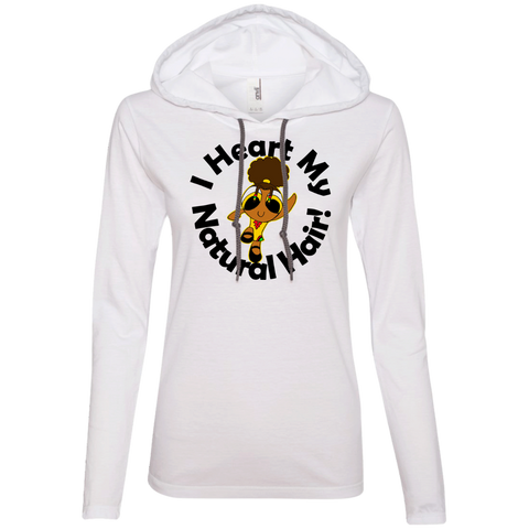 """I Heart My Natural Hair""  Ladies Hoodie 2"