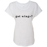 """Got Wings"" Ladies Triblend Dolman Sleeve"