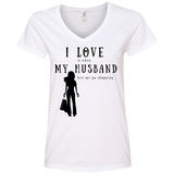 """I Love It When Shopping"" Variant Ladies' Cotton V-Neck"
