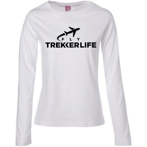 Trekker Life Fly Ladies Long Sleeve T-Shirt - Blk