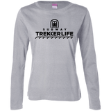 Trekker Life Subway Ladies Long Sleeve T-Shirt - Blk