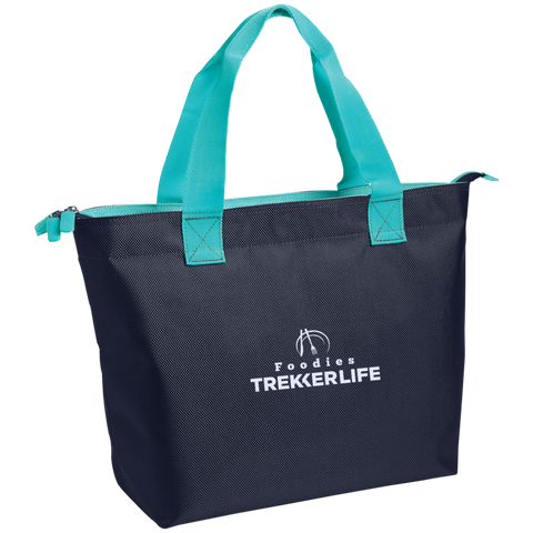 Trekker Life Foodie Zippered Tote - Wht