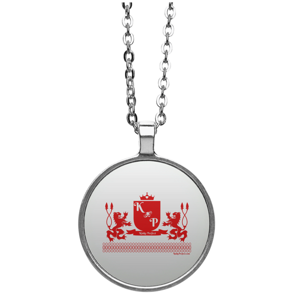 """Kinky Perfect Crest"" Silver Plated Pendant"