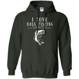 """I Love Bass Fishing"" Men's Cotton Hoodie"