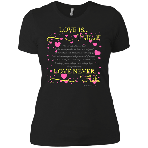 """LOVE IS"" Ladies' Boyfriend T-Shirt"