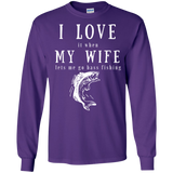 """I Love My Wife"" Cotton Long Sleeve T-Shirt"