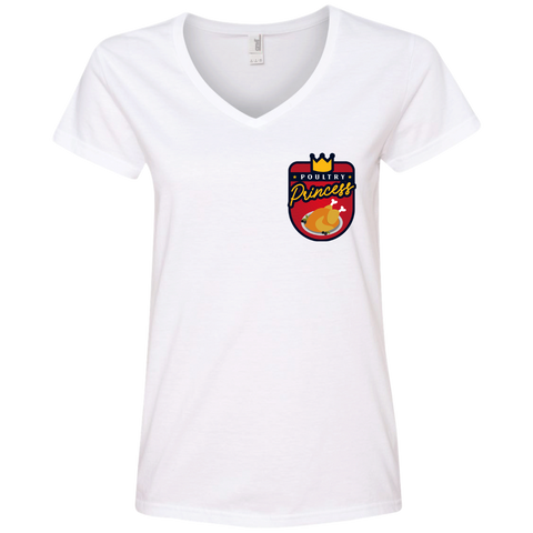 Poultry Princess V-Neck Tee