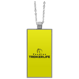 Trekker Life Foodie Rectangle Necklace - Blk