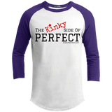 """The Kinky Side Of Perfect"" Men's Sporty 3/4 Sleeve T-Shirt"