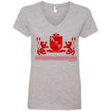 """Kinky Perfect Crest"" Ladies' V-Neck Tee"