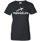 Trekker Life Fly Ladies Cotton T-Shirt - Wht