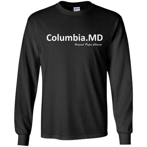 """Columbia, MD"" Paper Chasers LS T-Shirt"