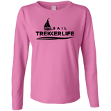 Trekker Life Sail Ladies Long Sleeve T-Shirt - Blk