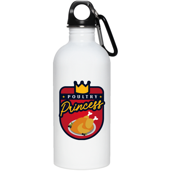 Poultry Princess 20 oz. Stainless Steel Water Bottle