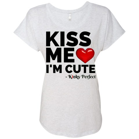 """Kiss Me I'm Cute"" Baby Doll Tee"