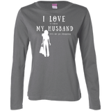 """I Love it When Shopping"" Ladies' Long Sleeve Cotton T-Shirt"