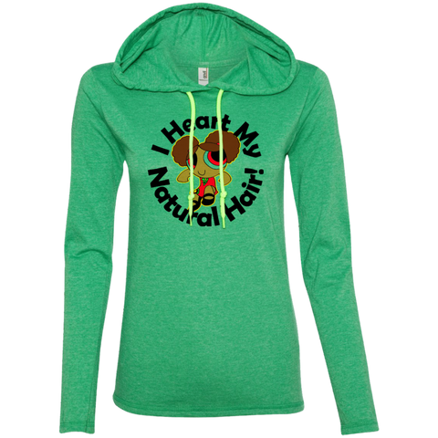 """I Heart My Natural Hair"" Ladies Hoodie 1"