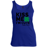 "Kinky Perfect ""Kiss me I'm Cute"" Scoop Neck Tank Top"
