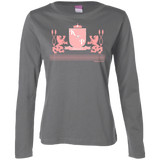 """Kinky Perfect Pink Crest"" Long Sleeve Cotton T-Shirt"