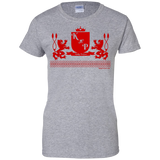 """Kinky Perfect Crest"" Ladies Cotton T-Shirt"