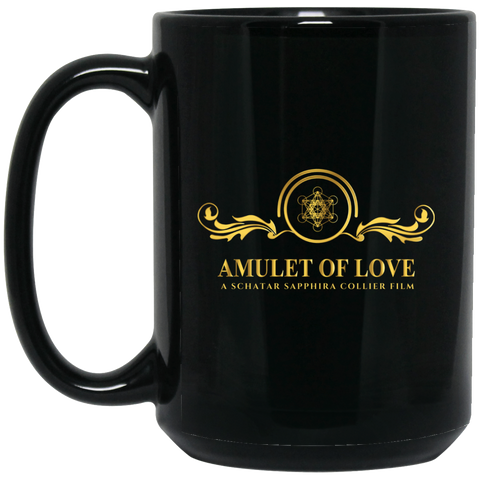 Amulet Of Love Black Mug