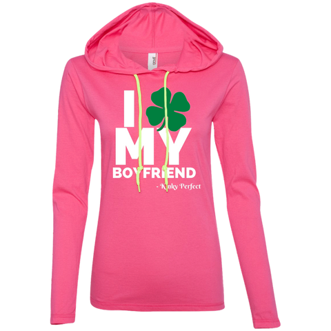 I Love My Boyfriend - Shamrock Ladies Slimmie Hoodie
