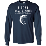 """I Love Bass Fishing"" Cotton Long Sleeve"