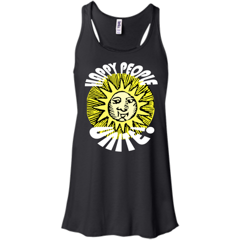"""Happy People Unite"" Flowy Racerback Tank"