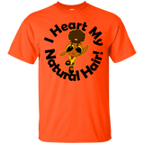 I Heart My Natural Hair Unisex Cotton T-Shirt 2