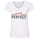 """The Kinky Side Of Perfect"" Ladies' V-Neck Tee"