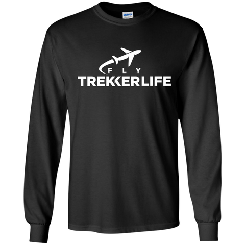 Trekker Life Fly Long Sleeve T-Shirt - Wht